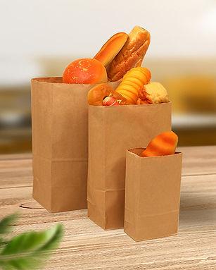 Brown greaseproof Kraft paper baking bread food bags