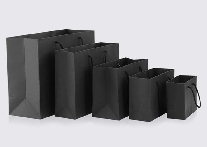 Black rope handle paper bags