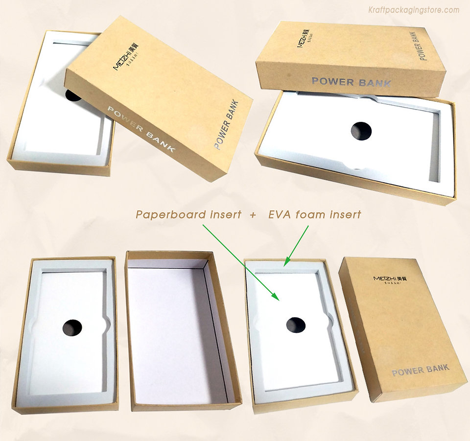 Rigid telescopic gift boxes custom with foam and paperboard insert
