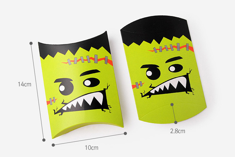 Pillow Box style Halloween candy treat boxes