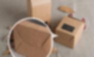 A snap lock bottom of kraft gift box