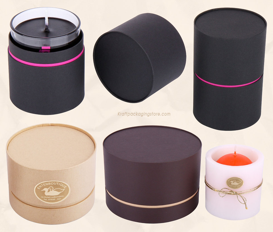high end cardboard tube candle packaging boxes