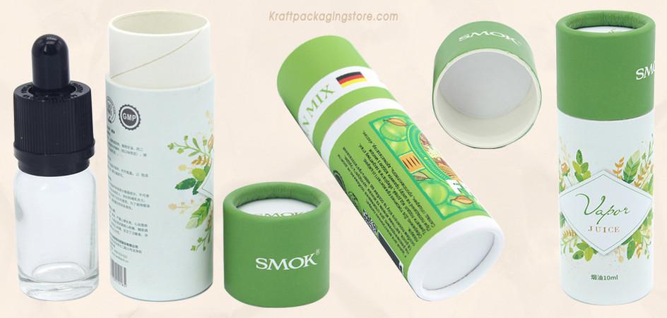 Custom essential hemp oil bottle paper tube packaging
