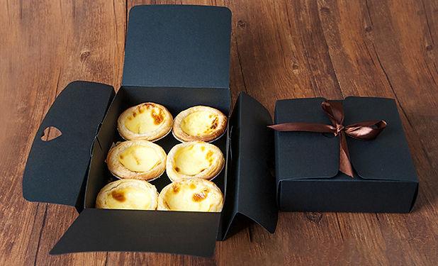 Silk closue black cheap gift boxes for baking food