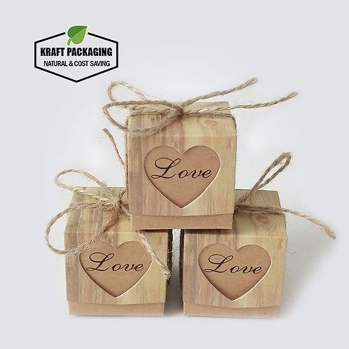 Small Brown Kraft Wedding Favor Gift Boxes Wholesale