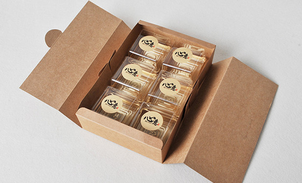 Printed kraft paper gift box for moon cakes