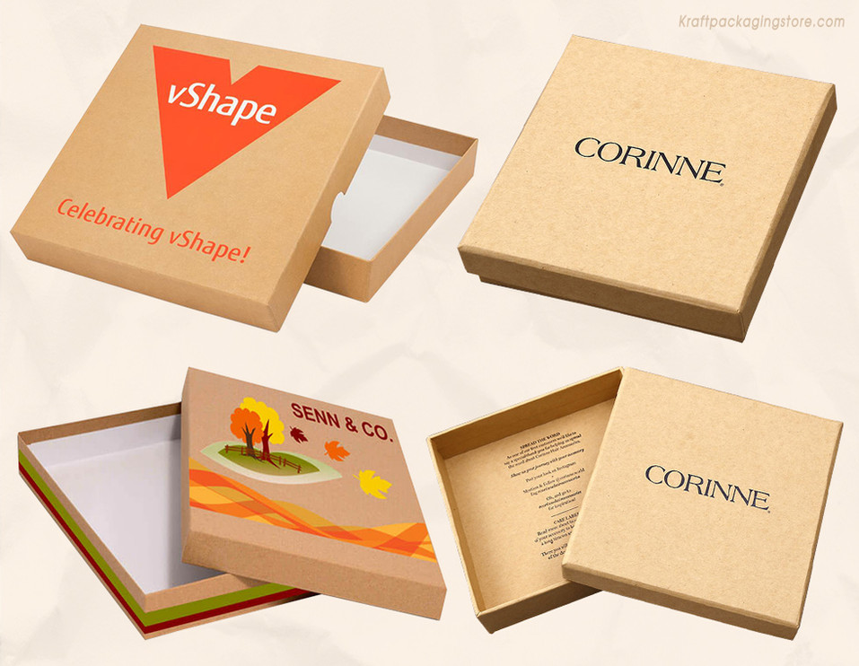 Custom printed 2-piece rigid setup boxes with removable lids