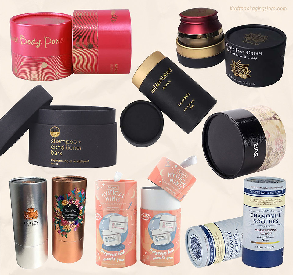 Cardboard tube packaging for skin care beauty products