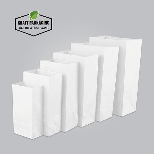 White Kraft paper baking food groceries dried food bags