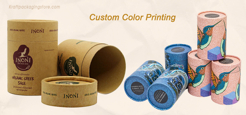 Custom printed cardboard tube packaging