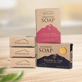 Custom kraft paper soap boxes packaging