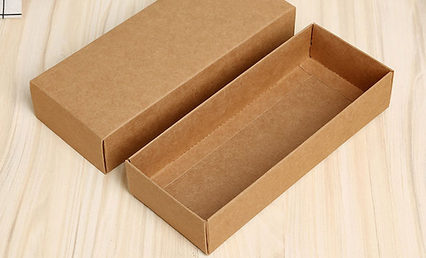 Kraft paper boxes wth lid with no border on tray