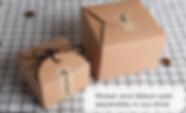 Brown Kraft cookies packaging boxes