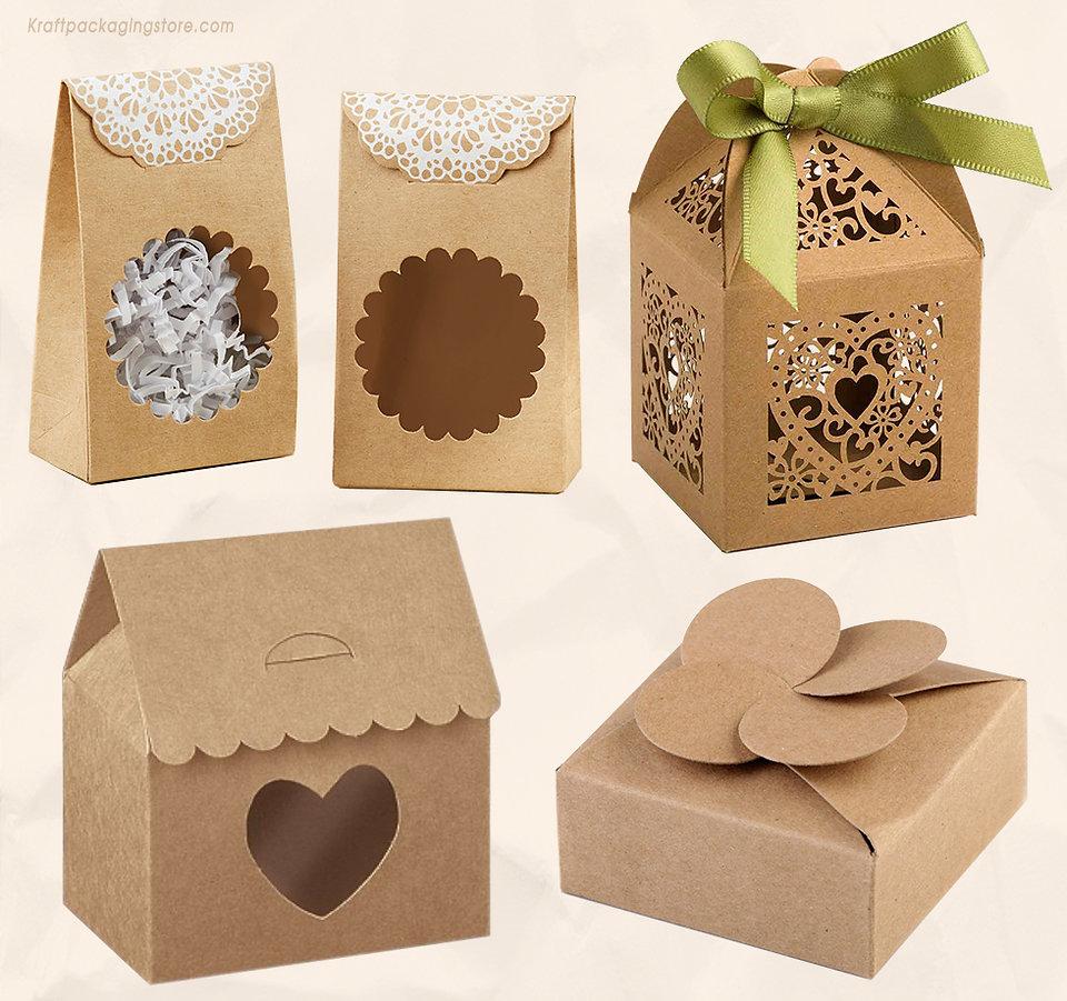 Wedding favor kraft boxes