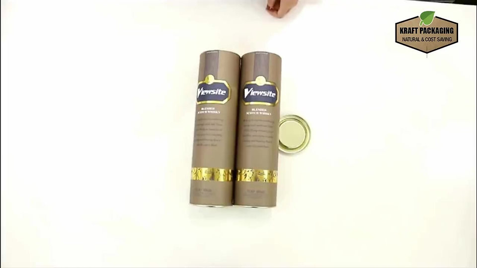 Custom cardboard cylinder wine tube packaging boxes
