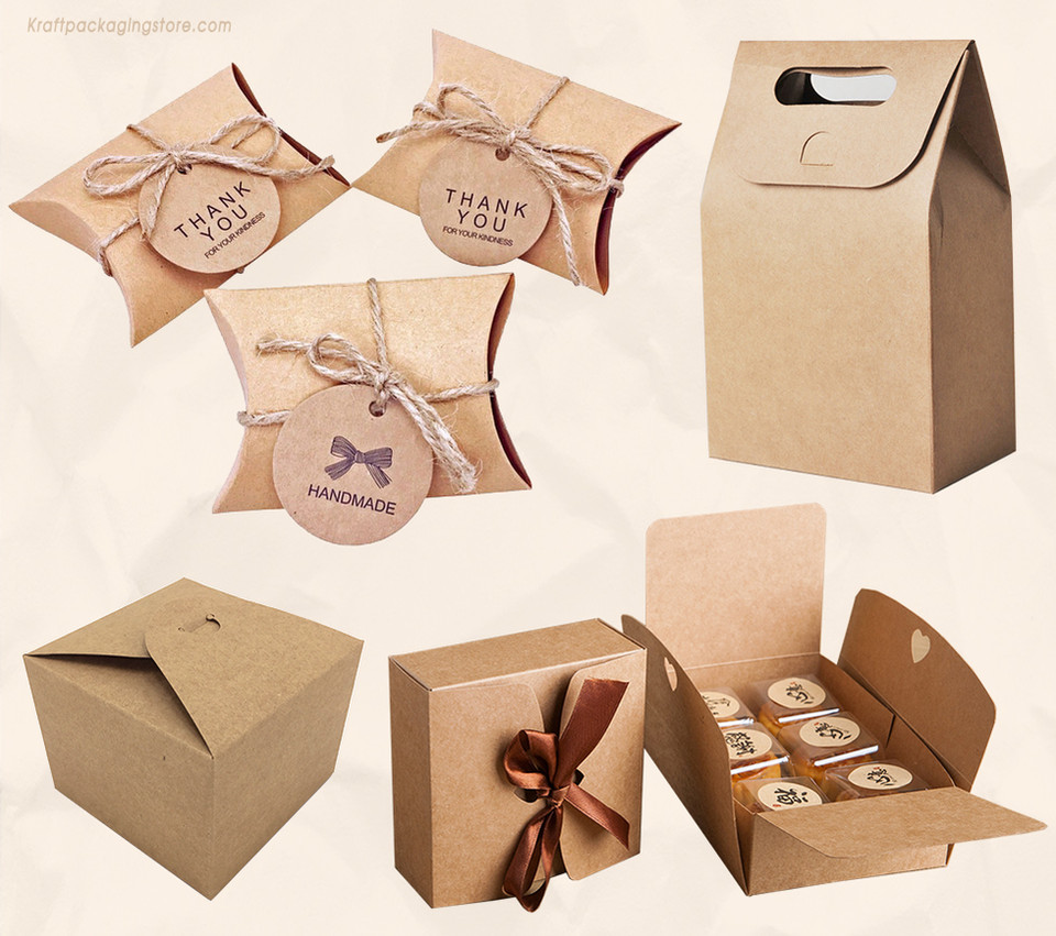 Brown Kraft treat boxes