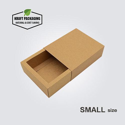 Small Brown Kraft Paper Slide Drawer Box Packaging