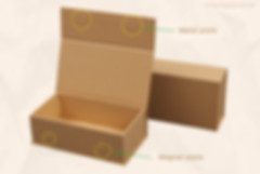 Custom Kraft cardboard rigid magnetic closure boxes