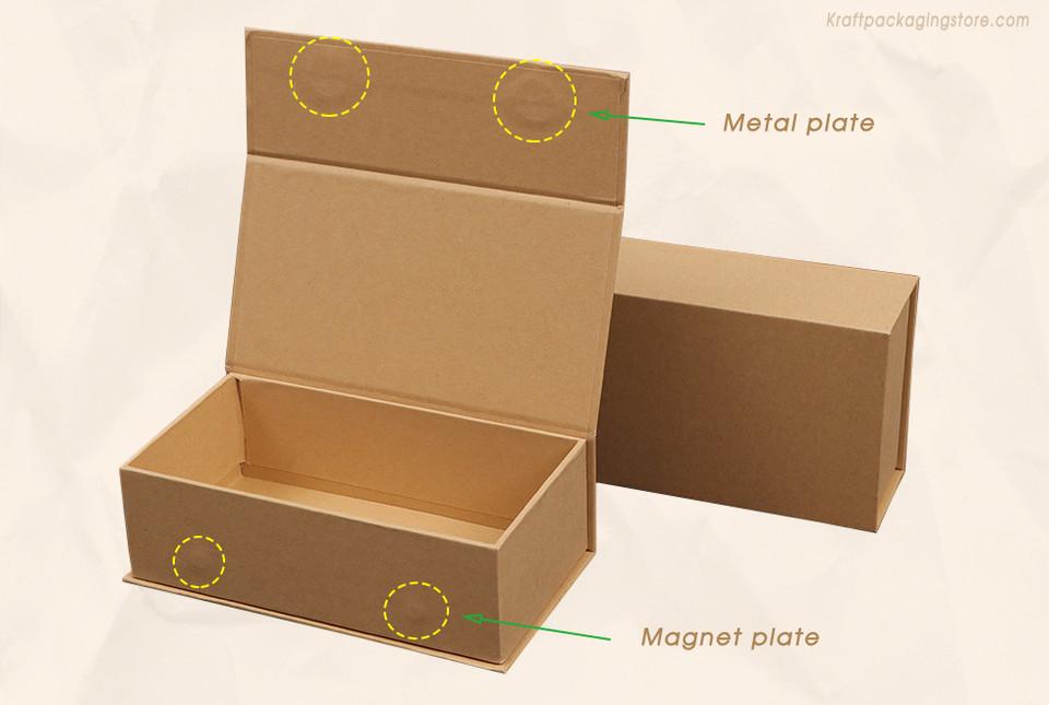 Custom Kraft cardboard rigid magnetic closure boxes