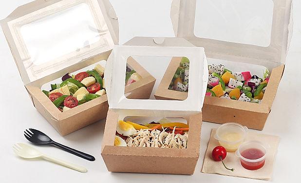 disposable Kraft salad take out boxes