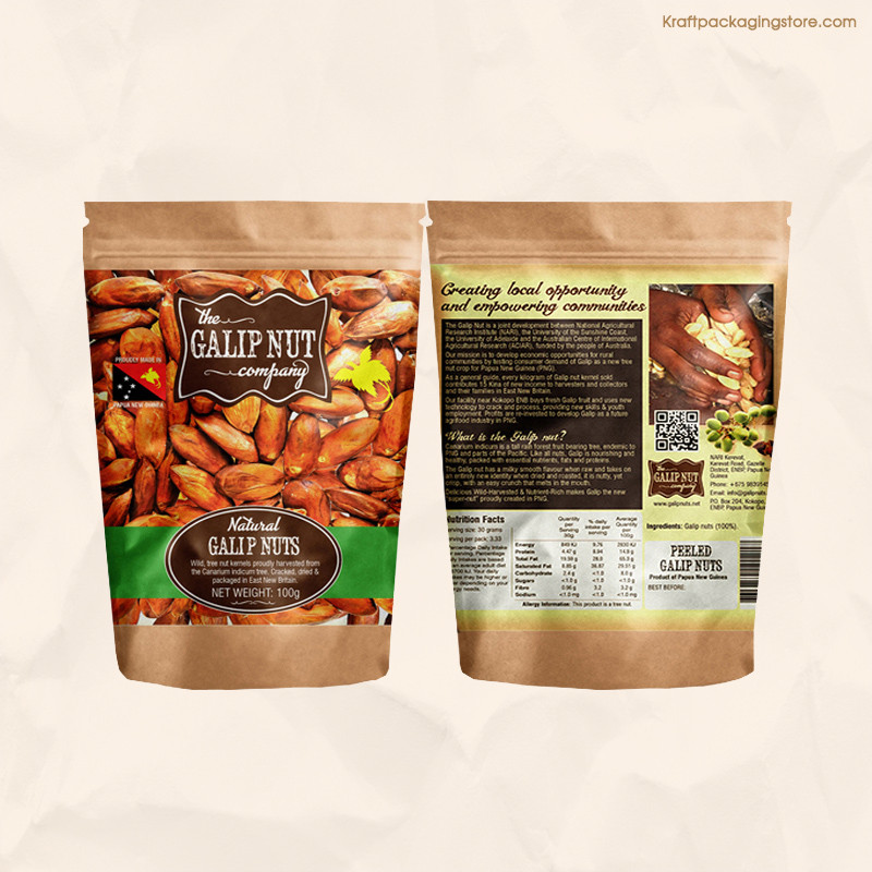 Wholesale custom color printing food pouches