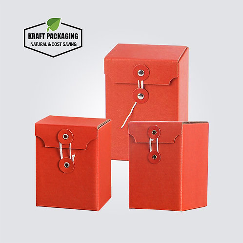 Red Corrugated Kraft Board Paper Packaging Box for Jam Honey Jar