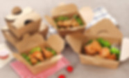 Kraft paper fried food take out boxes