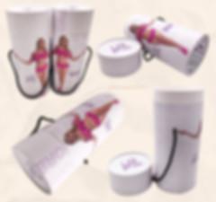 Massage roller packging cardboard tubes