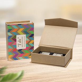 Custom kraft rigid cardboard magnetic boxes
