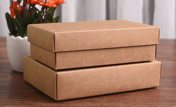 Half cover lid  kraft paper boxes with lid