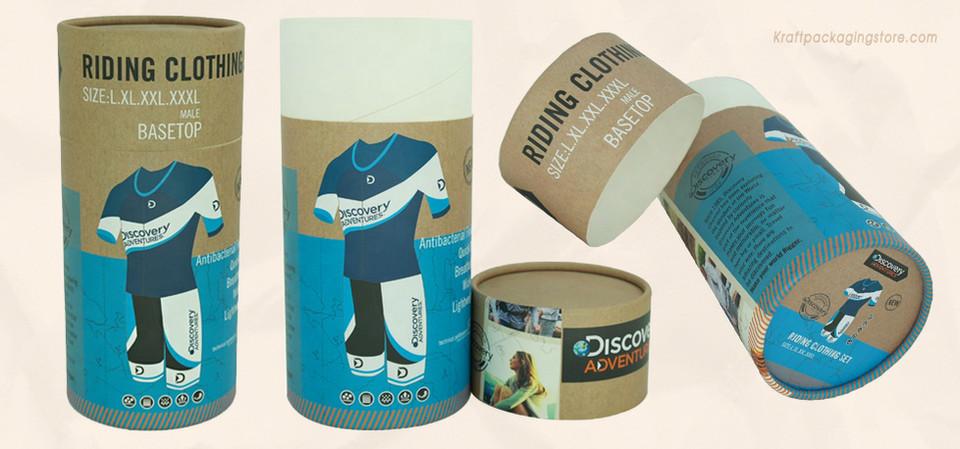 Polo shirt tee apparel cardboard tube packaging