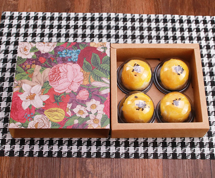 Color printed Kraft paper sliding drawer box style gift boxes for cakes