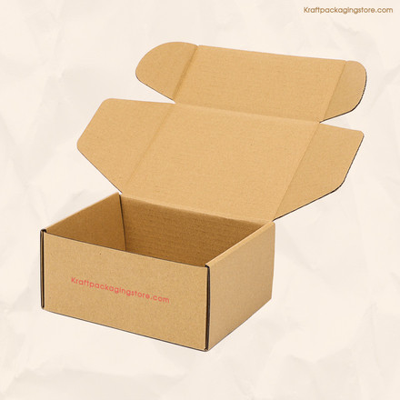 Custom printed brown kraft mailer boxes