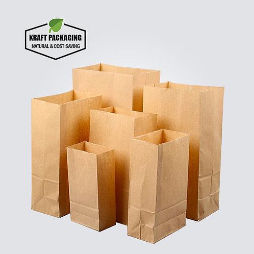 Brown Kraft paper dried food bakery bags grocery bag