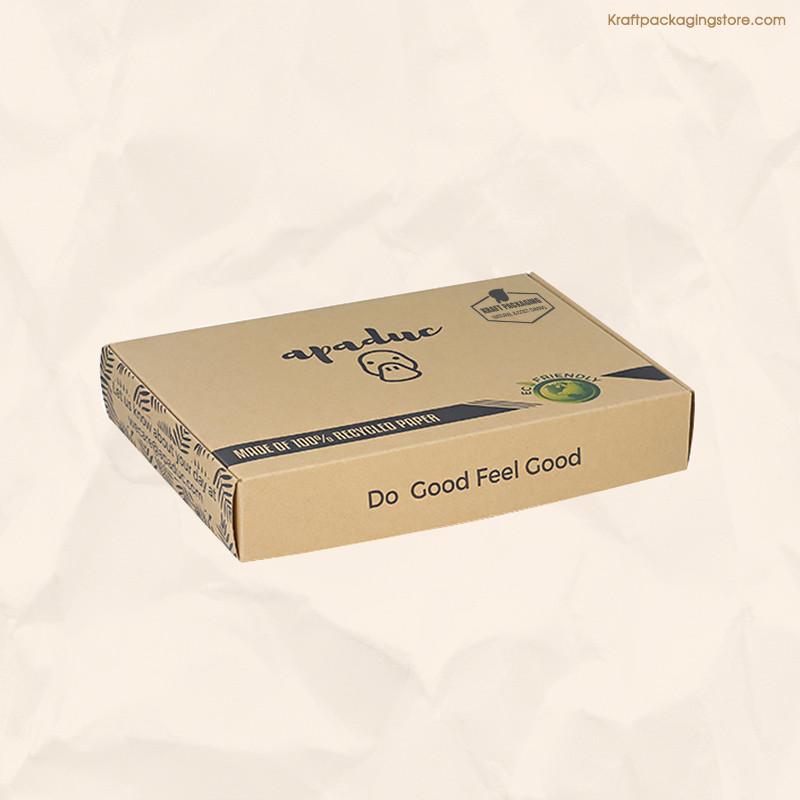 Recycled kraft paper mailer box