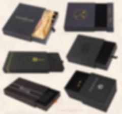 Custom matte black Kraft rigid slide drawer boxes gift packaging