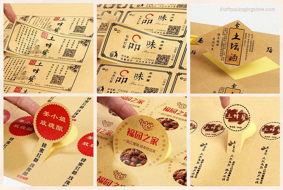 wholesale kraft stickers brown stickers