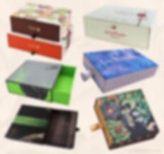 Custom WHITE surface slide rigid cardboard drawer boxes