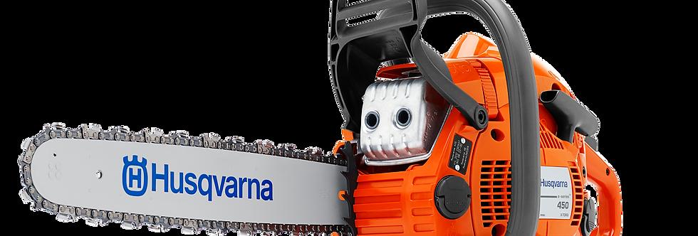 "HUSQVARNA 450 E-SERIES CHAINSAW 18"" W/ POWER BOX"