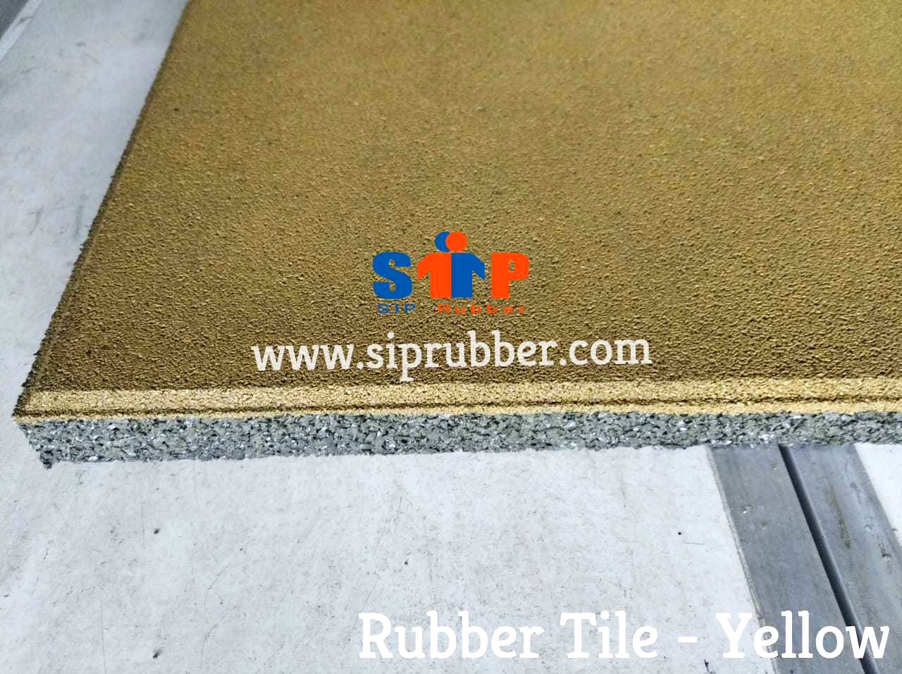 Rubber Tile - Yellow 2