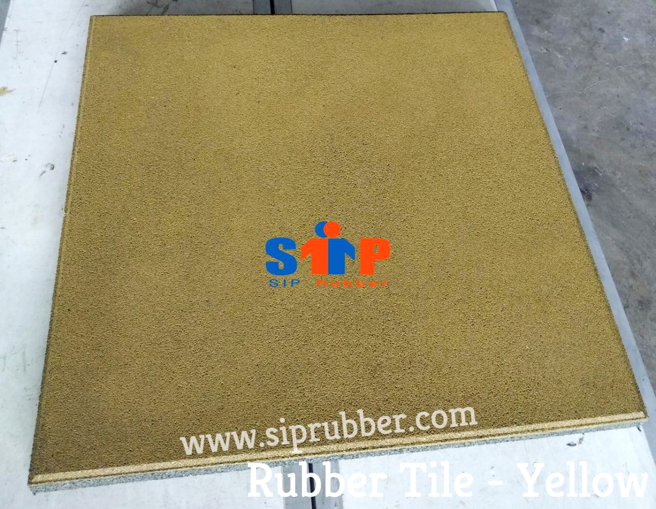 Rubber Tile - Yellow