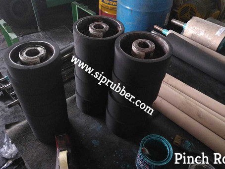 Rubber Pinch Roll - Untuk keperluan Paper Mills, Industri Pulp & Paper.
