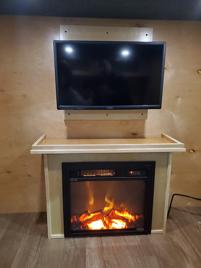 """18"""" Fireplace Insert with Mantel"""
