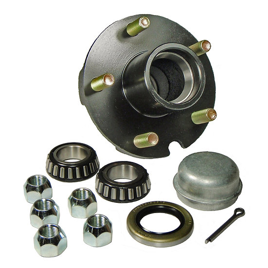 "Hub Kit 5 Bolt on 4-1/2"" Bolt Circle with 1 Inch I.D. Bearings"