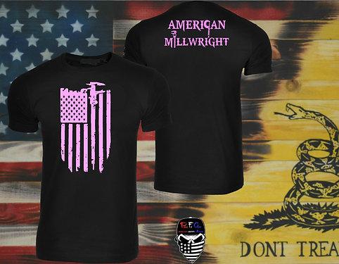 Patriotfitgear American MillwrightT ShirtMachinistMilling - Custom vinyl decals for tee shirts