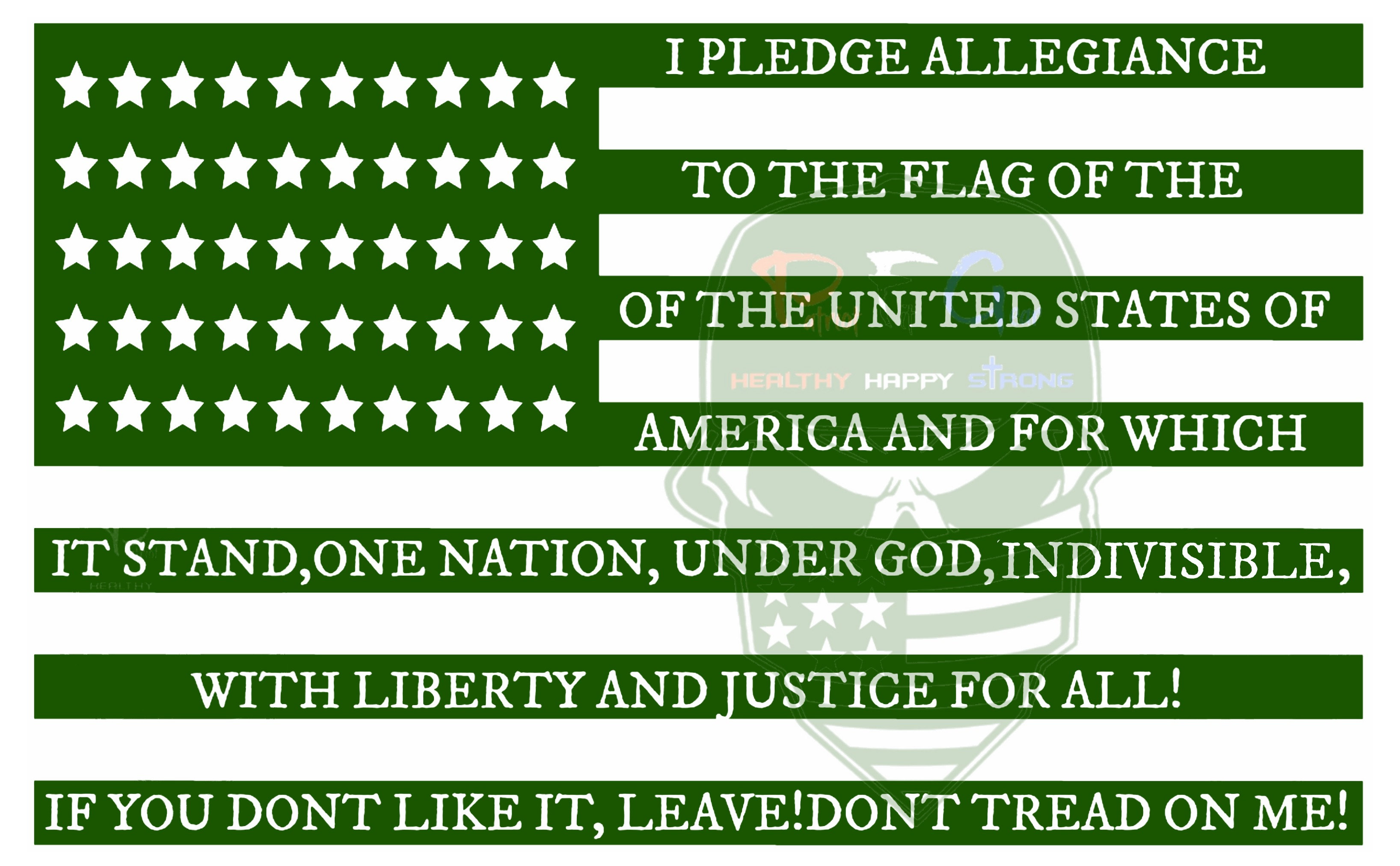 patriotfitgear i pledge allegiance flag dtom 15x8 vinyl decal