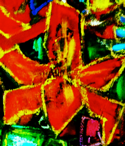 Orange Lilly 2010, oil on canvas