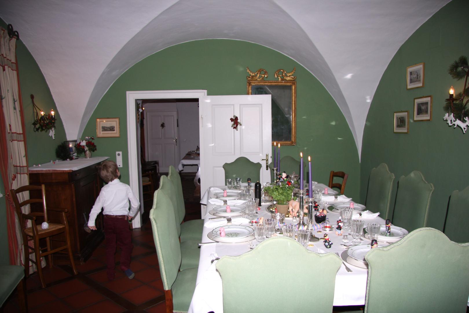 Eine Familienfeier am Hosttable