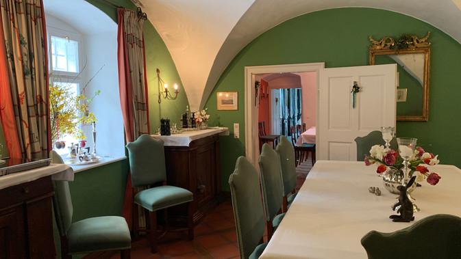 grünes Speisezimmer