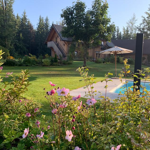 Blick auf das Gästehaus
